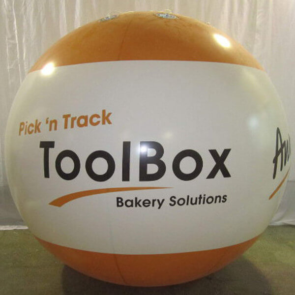 Bluebird-Balloons - Inflatable advertising / Trade fair balloon with lighting system