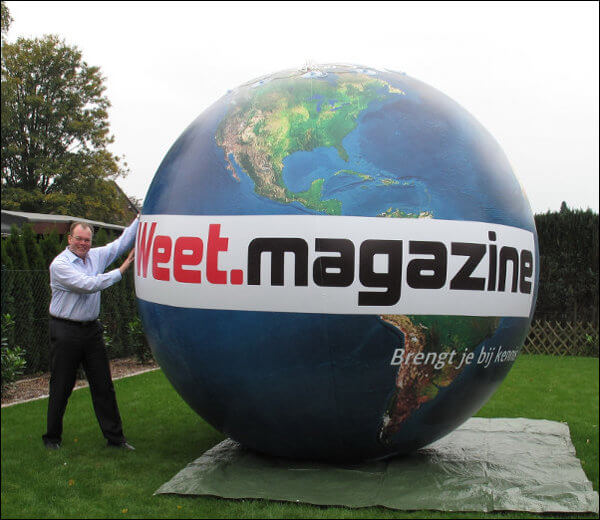 Top advertisemant - The World - Our bestselling trade fair / trade show balloon