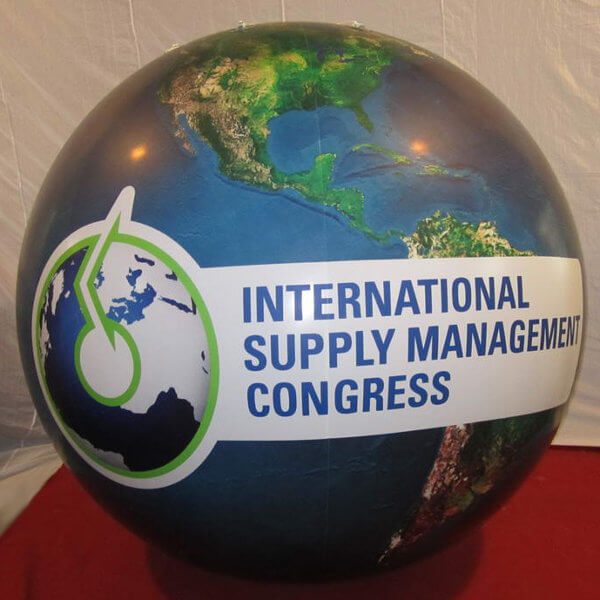 Inflatable globe for YOUR advertisement