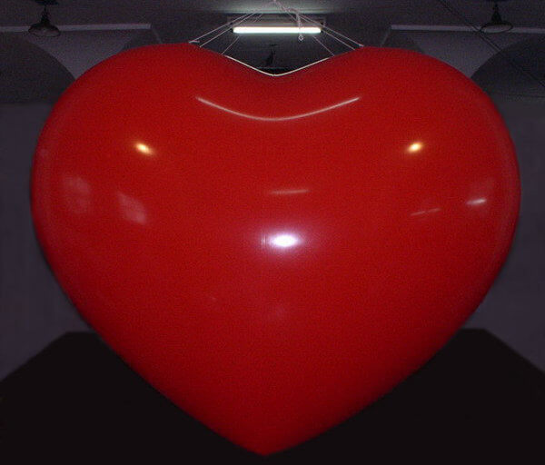 Bluebird-Balloons - Inflatable product replica / Special-shape balloon - Heart